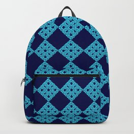 blue crochet crafts Backpack