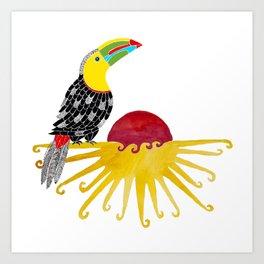 Toucan in the sun Art Print