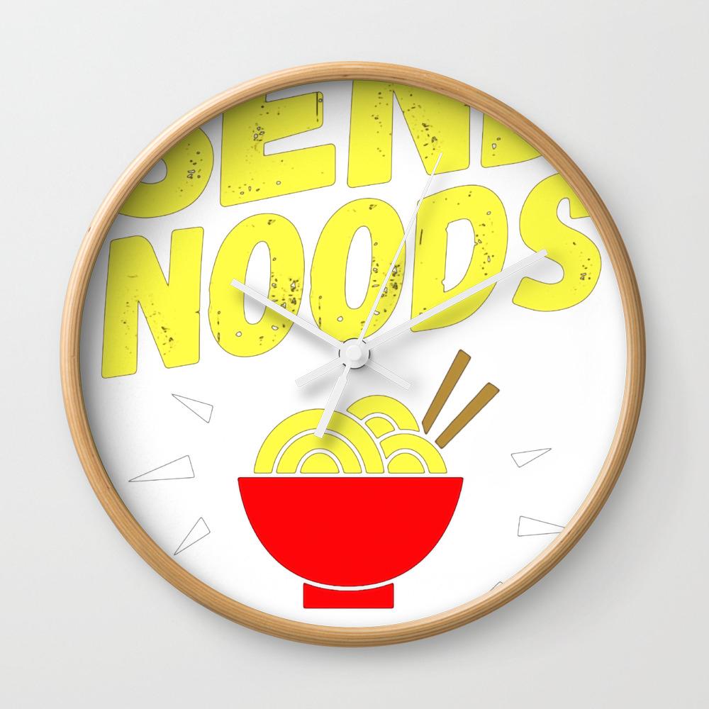 Send Noods Ramen Noodles Wall Clock by Thadesign CLK8915969