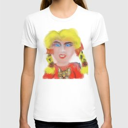 girl with cat T-shirt