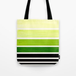 Sap Green Minimalist Mid Century Staggered Stripes Rothko Color Block Geometric Art Tote Bag