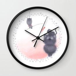Cat and Rat Wall Clock