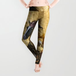 Awesome steampunk horse Leggings