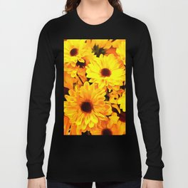 Daisies Yellow 3 Long Sleeve T-shirt