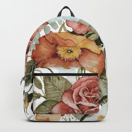 Roses and Poppies Rucksack