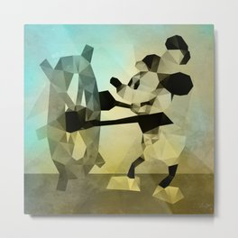 Mickey Mouse as Steamboat Willie Metal Print