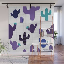 Cactus purple #homedecor Wall Mural