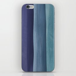 Blue Gradient on Wood iPhone Skin