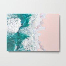 Pink Sand Beach Metal Print
