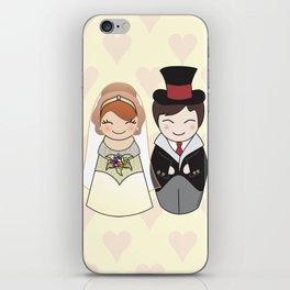 Kokeshis Just married iPhone Skin