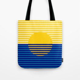 Yellow Split Sun Tote Bag