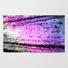 Pink Lavender Periwinkle Crystal Texture Rug