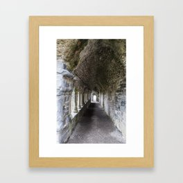 Lines and arches Framed Art Print