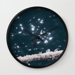 Liquid sapphire (and the old rope) Wall Clock