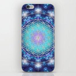 Flower Of Life Mandala Fractal turquoise iPhone Skin
