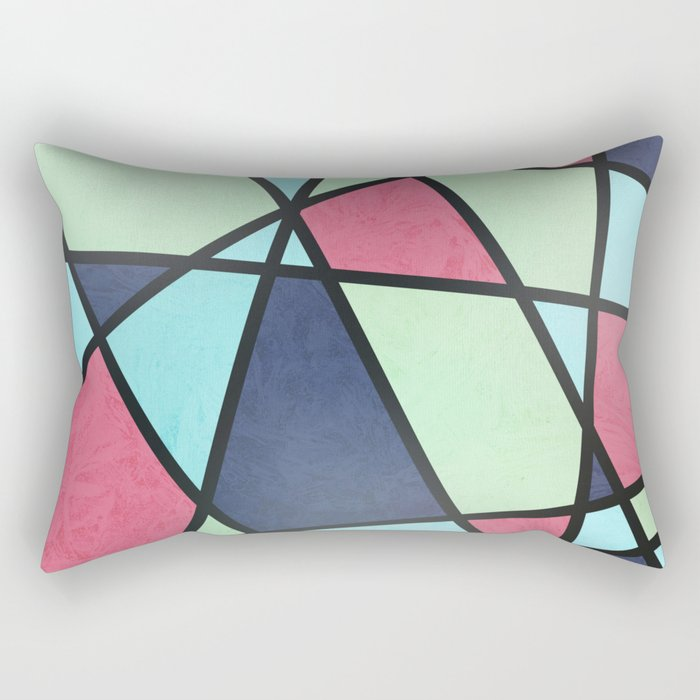 COLOR MOSAIC Rectangular Pillow