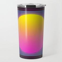 Retro 80's Neon Sunrise Travel Mug