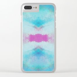Cotton Candy Abstract Clear iPhone Case