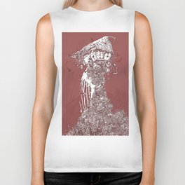 Tower of Cages Biker Tank