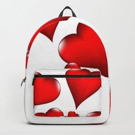 MODERN ART RED VALENTINES HEART  DESIGN Backpack