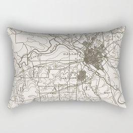 Dallas Map Rectangular Pillow