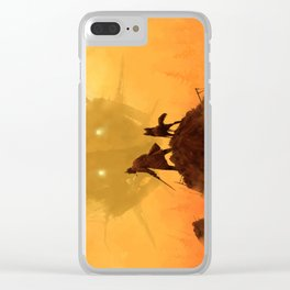1920 - take your dog for a walk Clear iPhone Case