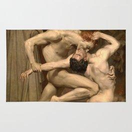 Dante and Virgil in Hell Rug