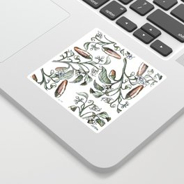 Hot Peppers Botanical Drawing Sticker