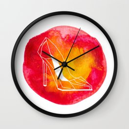 raya goods : hot stiletto architecture Wall Clock