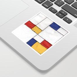 sewing Mondrian Sticker