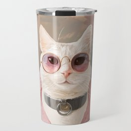 Fashion Portrait Cat Travel Mug