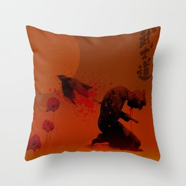 Seppuku ( Hara Kiri) The liberation of the spirit of the samurai Throw Pillow