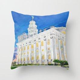 Nauvoo Illinois LDS Temple Throw Pillow