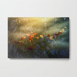 Floating fallen leaves Metal Print