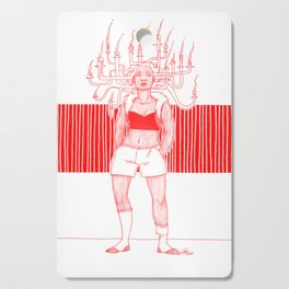 Candle Hair Red Cutting Board