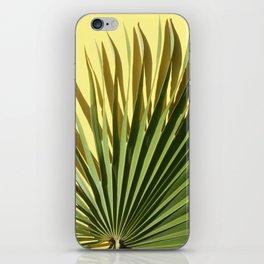 Palm on Yellow iPhone Skin