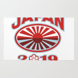 Japan 2019 Rugby Ball Retro Rug