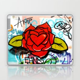 rose/heart graffitti Laptop & iPad Skin