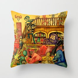 A Town Called Morteville Throw Pillow