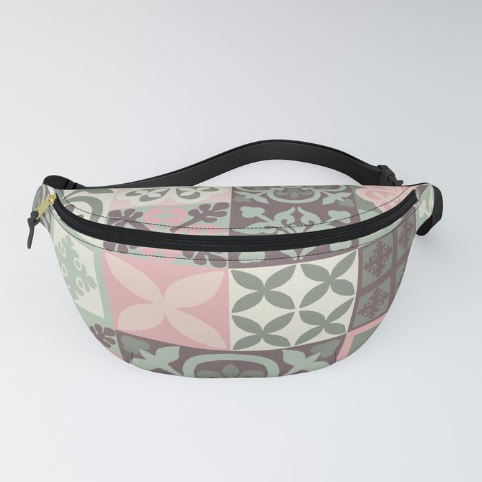 Hand Painted Patchwork Fanny Pack