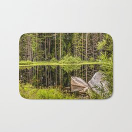 Quiet Forest lake Bath Mat