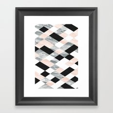 Pastel Scheme Geometry Framed Art Print