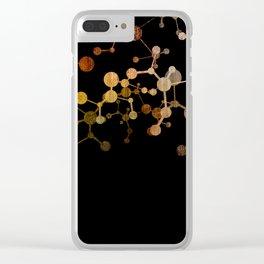 Metallic Molecule Clear iPhone Case
