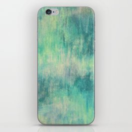 Soft Green Teal Wash iPhone Skin