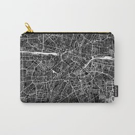 Munich Black Map Carry-All Pouch