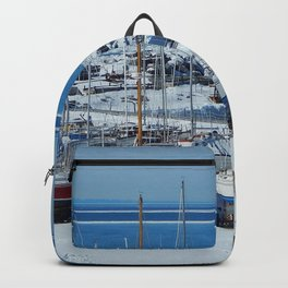 Sailboats in Winter Backpack