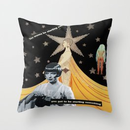 """""""The End is The Beginning""""  Throw Pillow"""