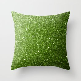 Beautiful Greenery Pantone glitter sparkles Throw Pillow