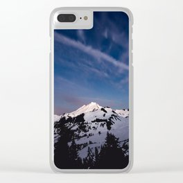 Mount Baker - Nature Photography Clear iPhone Case