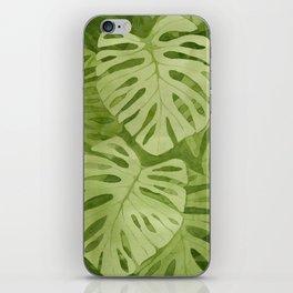 Watercolor Monstera Leaves iPhone Skin